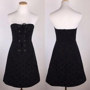 Nanette Lepore Sz 6 Lace-Up Corset Dress Lined